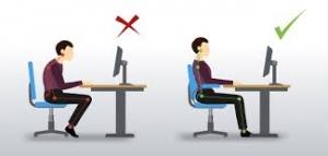 طرز نشستن صحیح پشت میز کامپیوتر